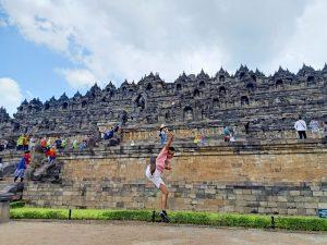 David Randa Kembaren sedang di Borobudur destination