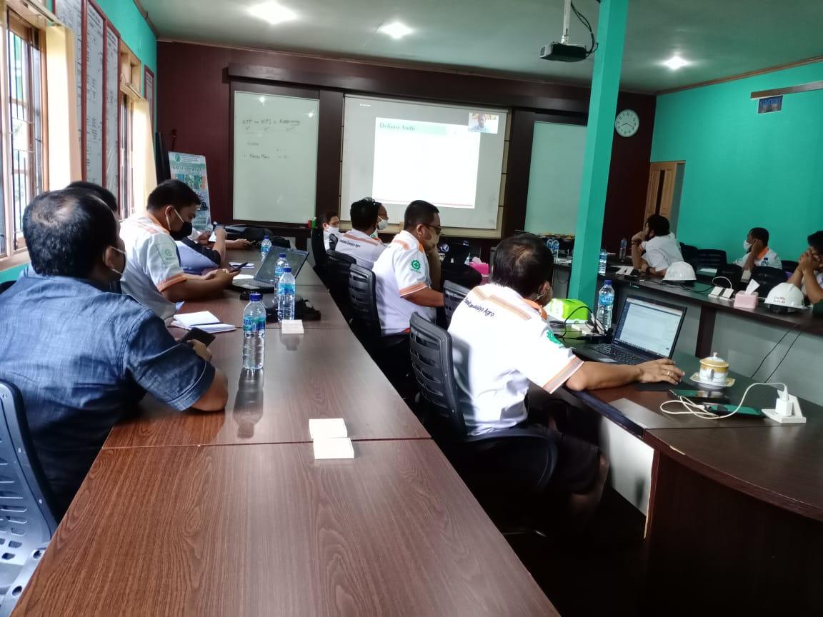 Meeting pembukaan Audit Dokumen Area 1 Region Mentaya