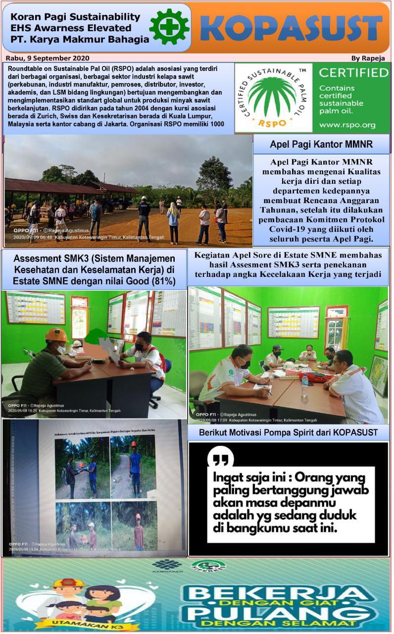 KOPASUST (Koran Pagi Sustainabillity) 09 September 2020