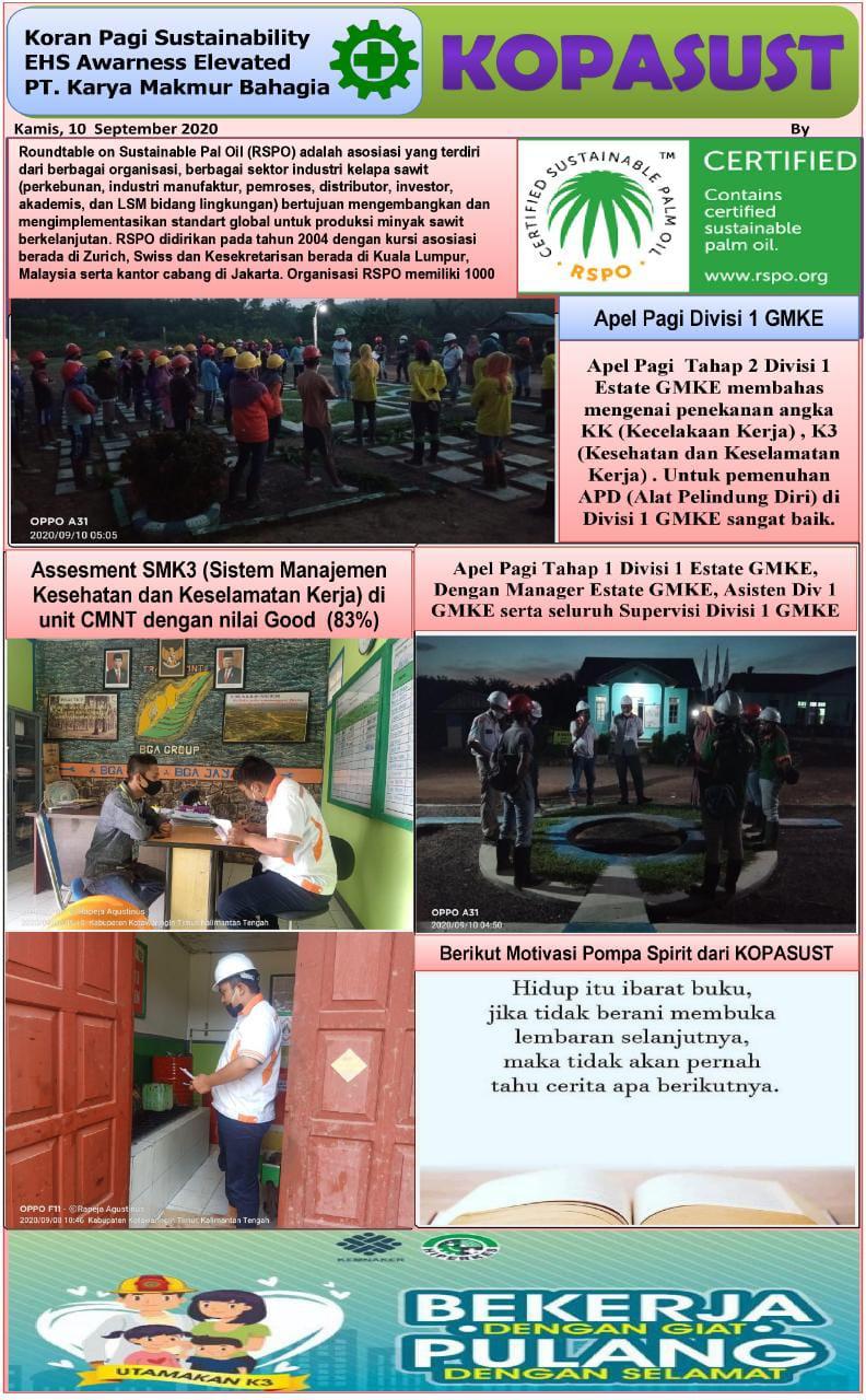 KOPASUST (Koran Pagi Sustainabillity) 10 September 2020