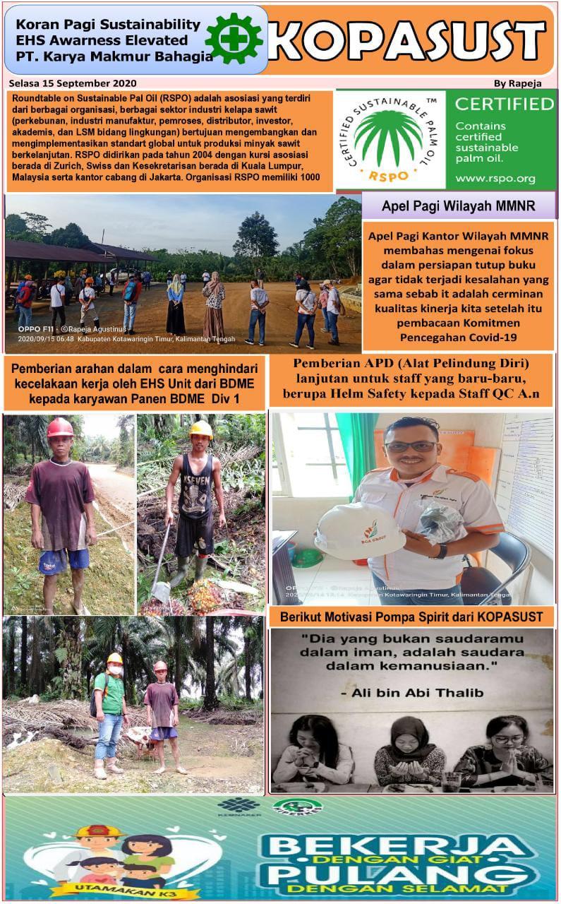 KOPASUST (Koran Pagi Sustainabillity) 15 September 2020