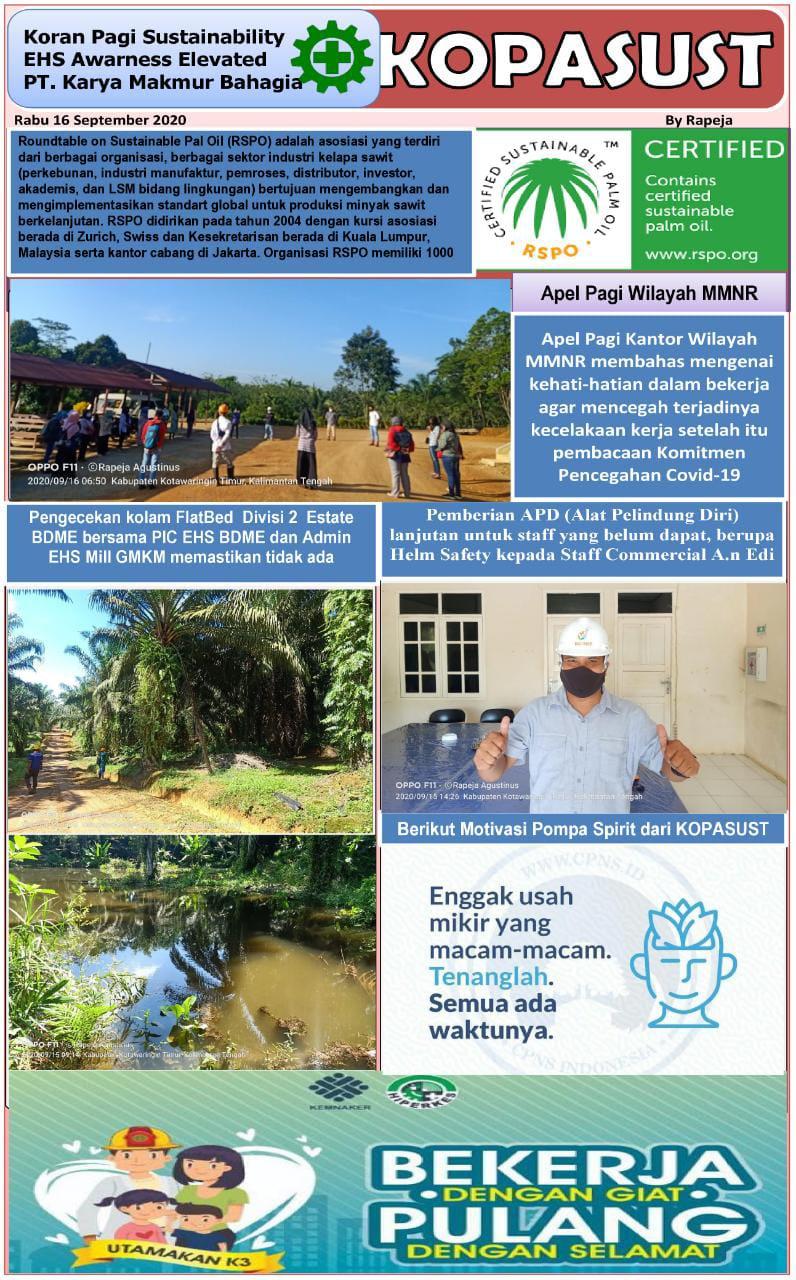 KOPASUST (Koran Pagi Sustainabillity) 16 September 2020