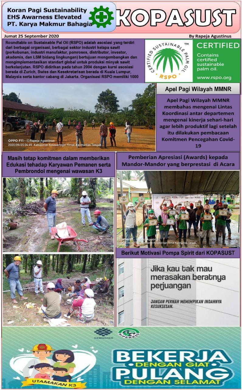 KOPASUST (Koran Pagi Sustainabillity) 25 September 2020