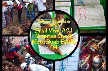 Surprise Check Area Controller 1 ke BAGE 04, Selasa 01 September 2020
