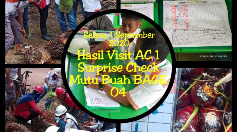 Surprise Check Area Controller 1 ke BAGE 04, Selasa 01 September 2020