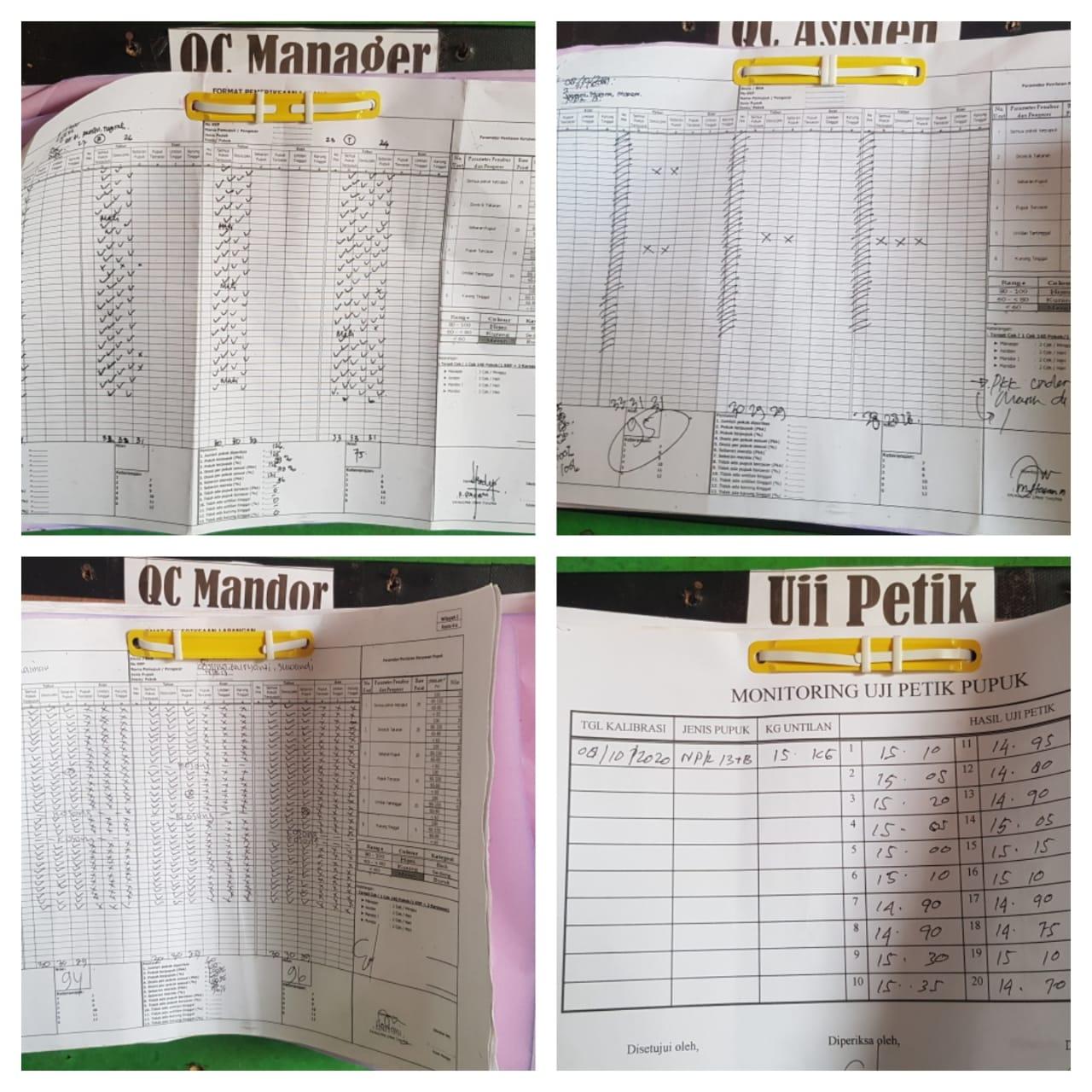 3. Monitoring QC Manager dan Uji Petik