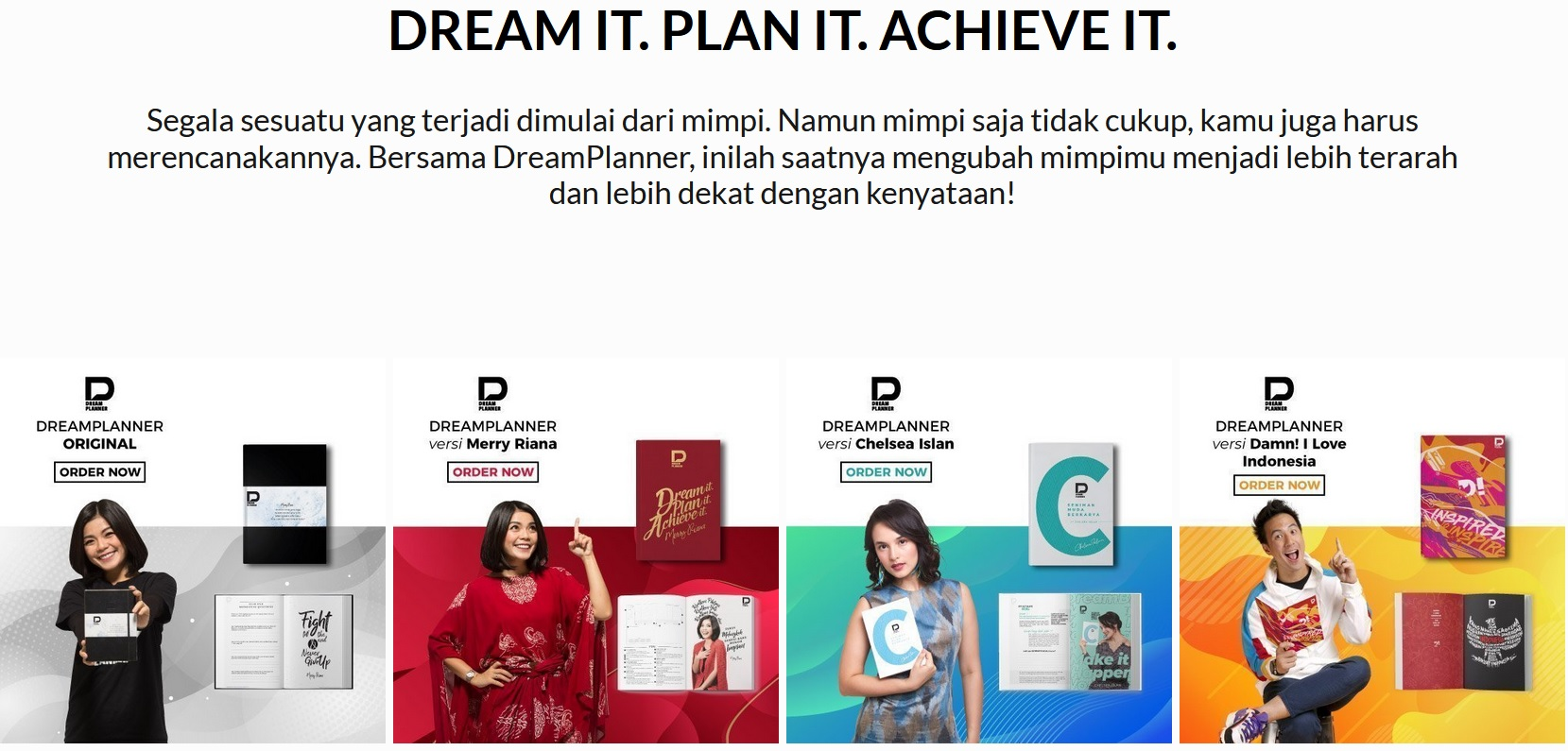 Buku Panduan Lengkap Mewujudkan Impian atau Cita-Cita - DreamPlanner