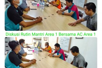 Briefing rutin mingguan Mantri Area dengan Area Controller, setiap hari Sabtu