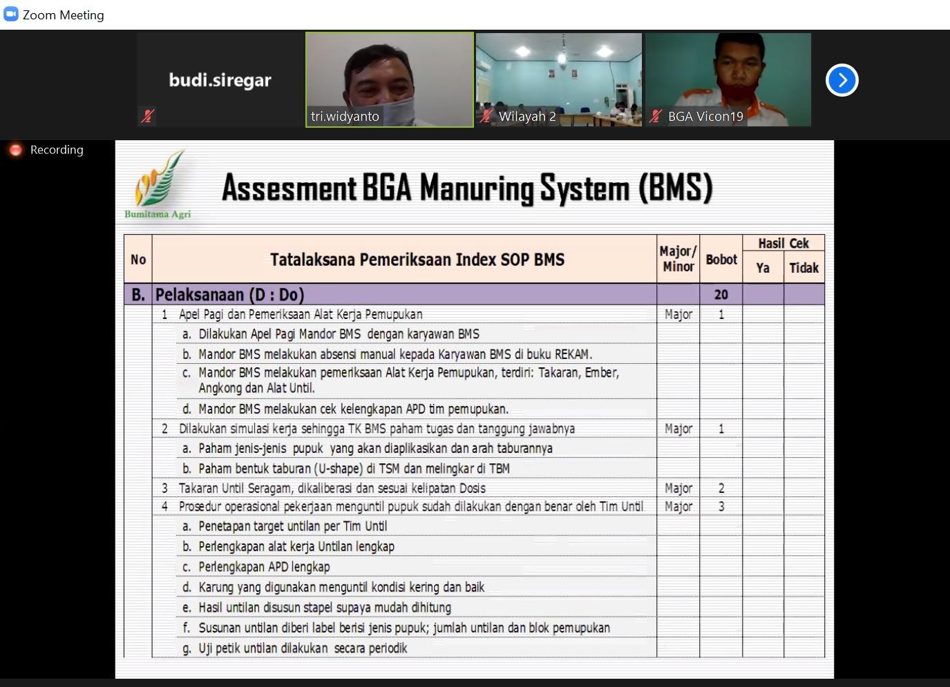 Asesment BMS - Disiplin Indeks SOP BMS - Do