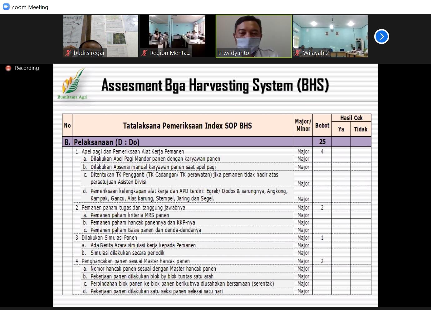 Assesment BHS - Disiplin Indeks SOP BHS - Do