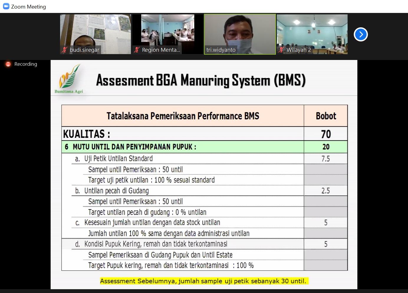 Assesment BMS - Kualitas