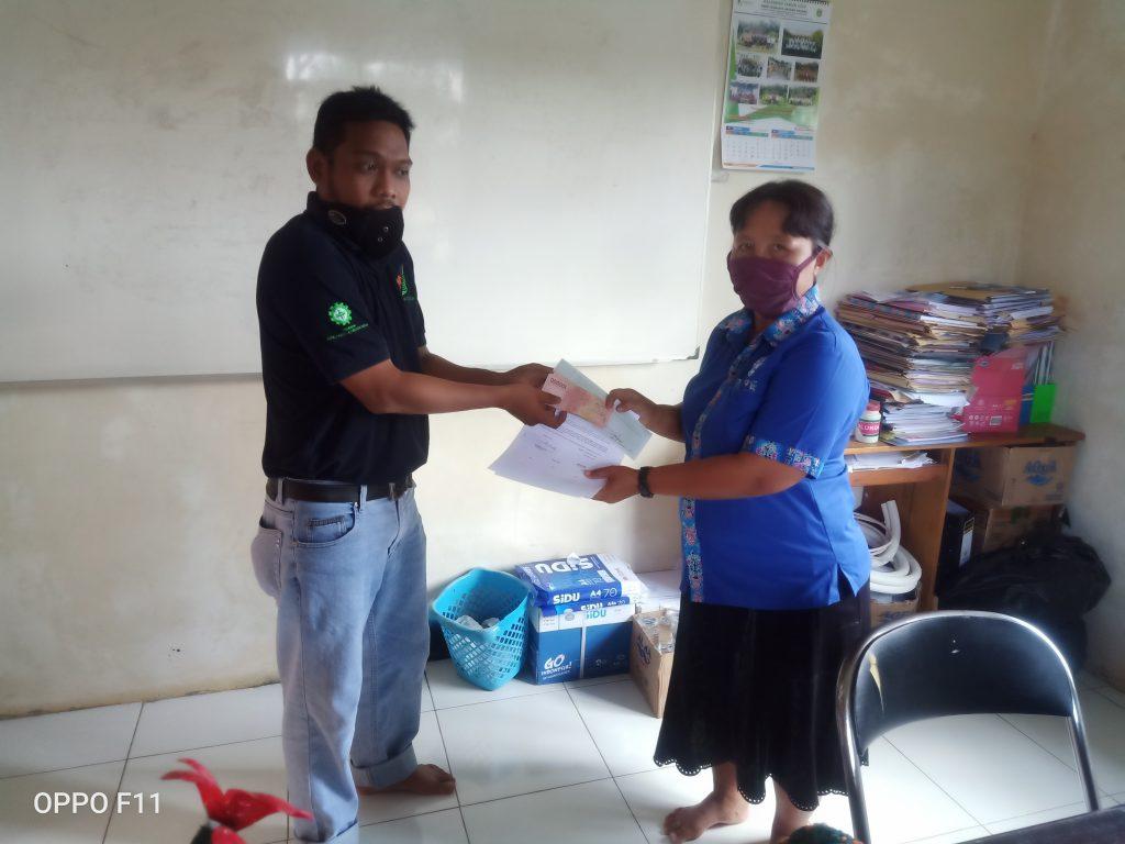 Penyerahan Dana Kegiatan Natal GPdi Elsadai Wonosari