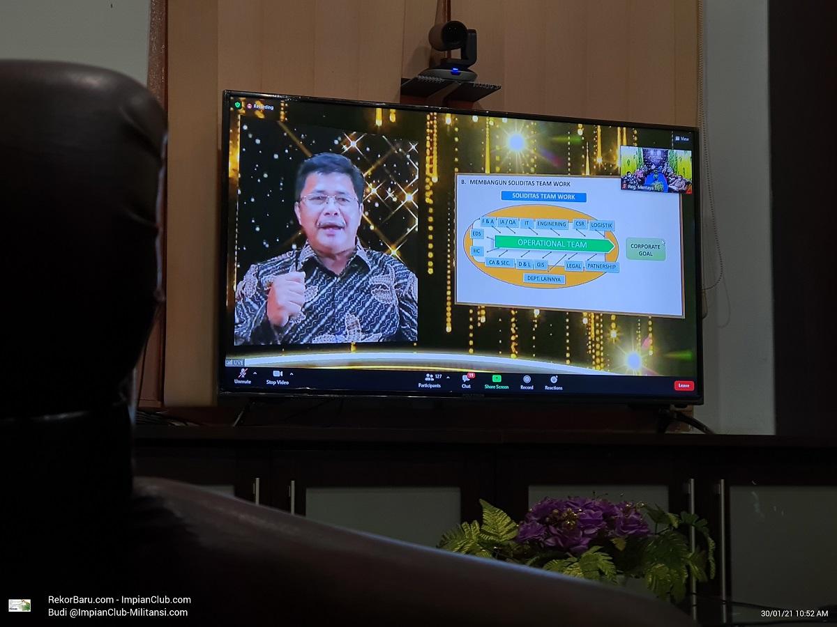 Arahan AsDir Corporate Affair and Partnership, Bapak Johan Sukardi