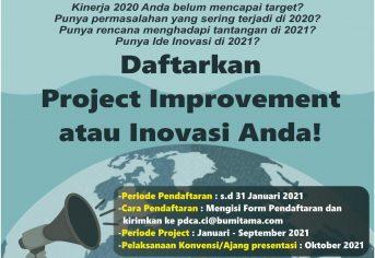 Project Improvement atau Inovasi Merupakan Habbit Baru